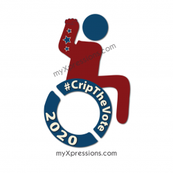 Crip the Vote Stickers 2020 without hair (dark red)
